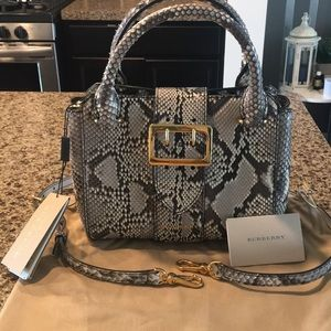 Burberry Bags - NWT Burberry Python Buckle Handbag